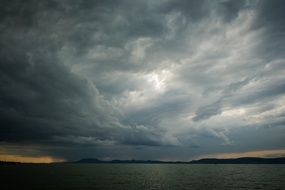 lake Panorama stormy sky
