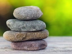 stones stack for meditation