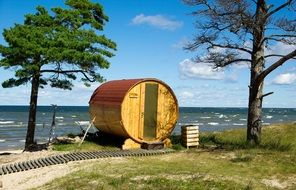 sauna at baltic sea, latvia