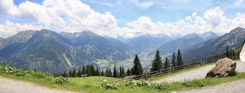 Amazing green mountain panorama gastein valley