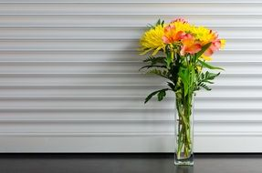 bright bouquet of flowers in a vase