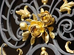 Golden flower decoration