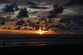 Seashore Cloud sunset landscape