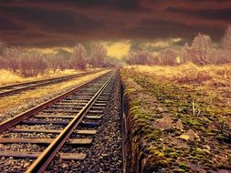 Landscape of railway