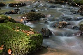 mountain river in stones