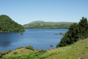 scenic lake landscape in Ireland