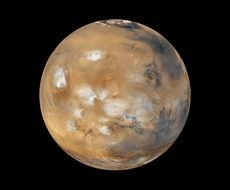 mars, planet in space