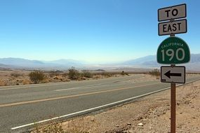 road signs in death valley