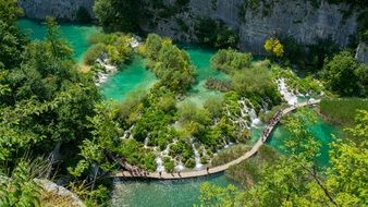 clean Plitvice lakes in Croatia