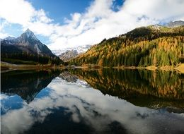 bergsee is a mountain lake in the alps