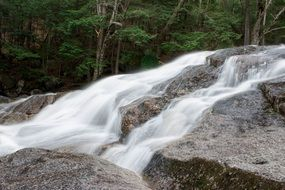 small waterfall in motion