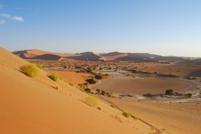 sand dune with hills in namibia