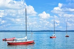 boats in the port of upper Bavaria