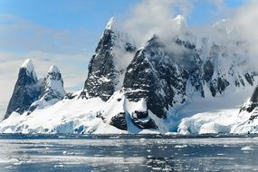 ice mountains in Antarctica