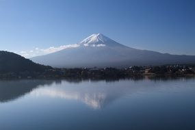 Reflection of Fuji in the water
