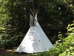 tipi like a tent in the forest