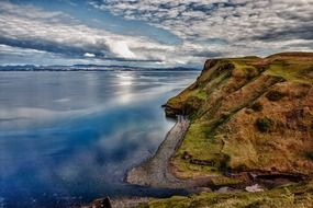 picturesque coast of Scotland on a cloudy day