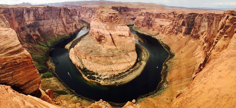 horseshoe-shaped meander in arizona