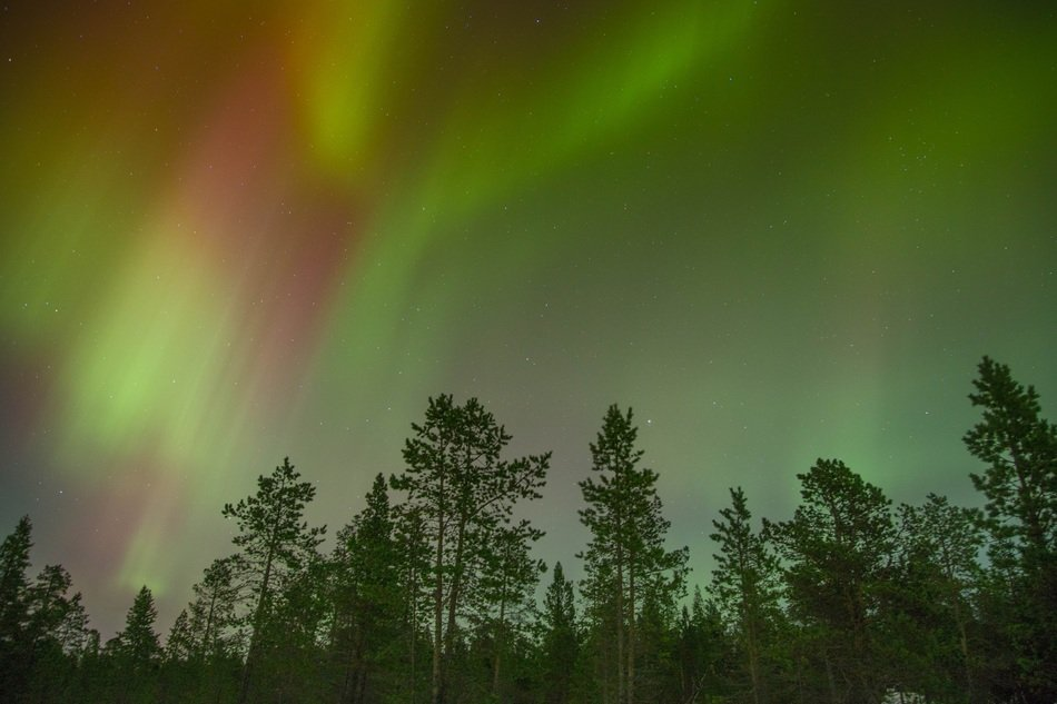 Northern Lights at night