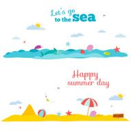 Vector illustration banners for tourism or camp with kids N3
