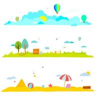 Vector illustration banners for tourism or camp with kids N4