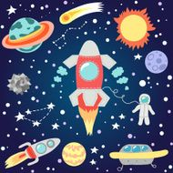 Seamless outer space pattern