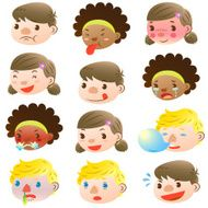 Children of various facial expressions N2
