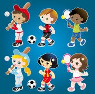 Sporty cute kids set