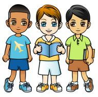 Three Little Boys without Background