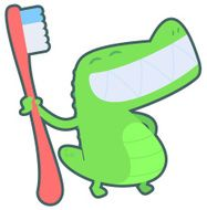 Crocodile with Toothbrush