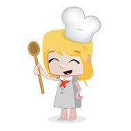 Little Girls - Professions Chef