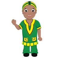 African Boy Vector Illustration