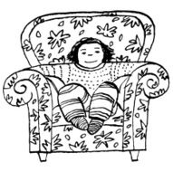 Child in cozy Chair