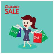 Women shopping Clearance sale on holiday
