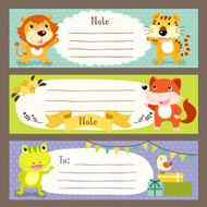 lovable diverse animals memo paper N2