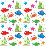 cute fish and sea creature pattern