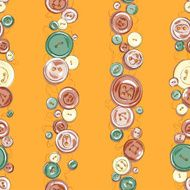 Strips of hand drew buttons N2