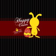 Happy easter cards with eggs and rabbit