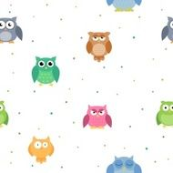Vector Seamless Owl Background