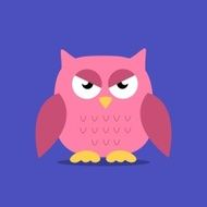 Vector Abstract Owl Design N5