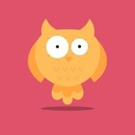 Vector Abstract Owl Design N6