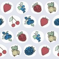 Pattern with different berries