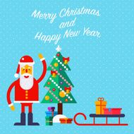 New Year and Christmas greeting card N2