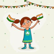 Cute girl celebrating Indian Independence Day
