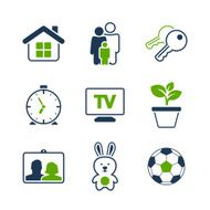 Home simple vector icon set