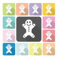 Ginger bread Icon color set vector illustration