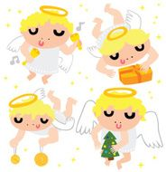 Cute Christmas Angel Characters