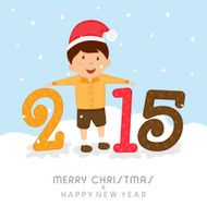Happy New Year and Merry Christmas festival poster design