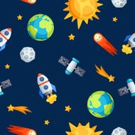 Seamless pattern of solar system planets and celestial bodies N4