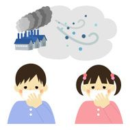 Air Pollution boy and girl